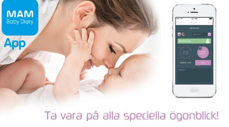 Baby dagbok app