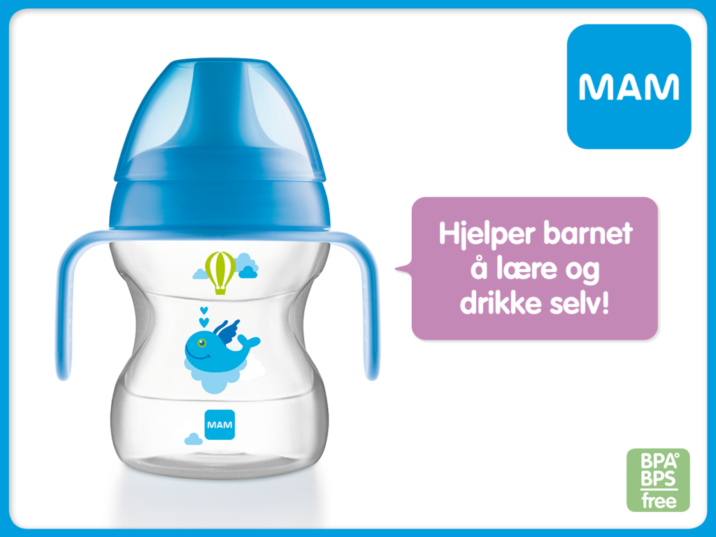 Skal barnet ditt l re drikke selv baby talk by mam for Mam limited